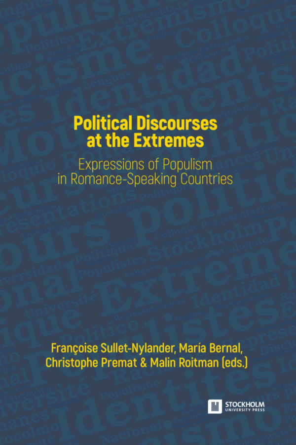 New book: Political Discourses at the Extremes: Expressions of Populism in Romance-Speaking Countries